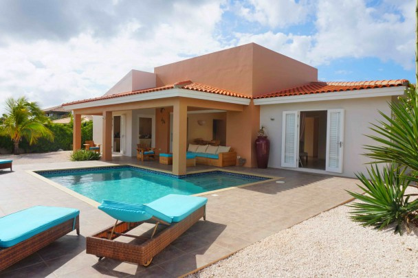 Blue Bay Curacao - contemporary house with breathtaking views and pool