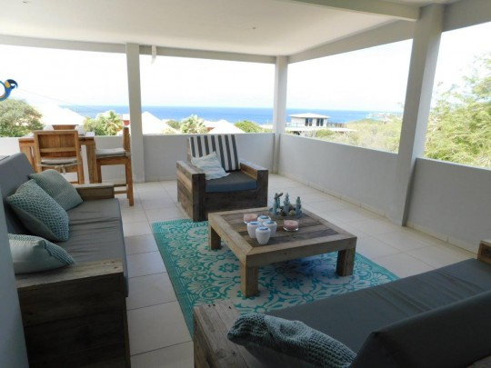 Modern, large villa with sea view for sale at Westpunt Curacao