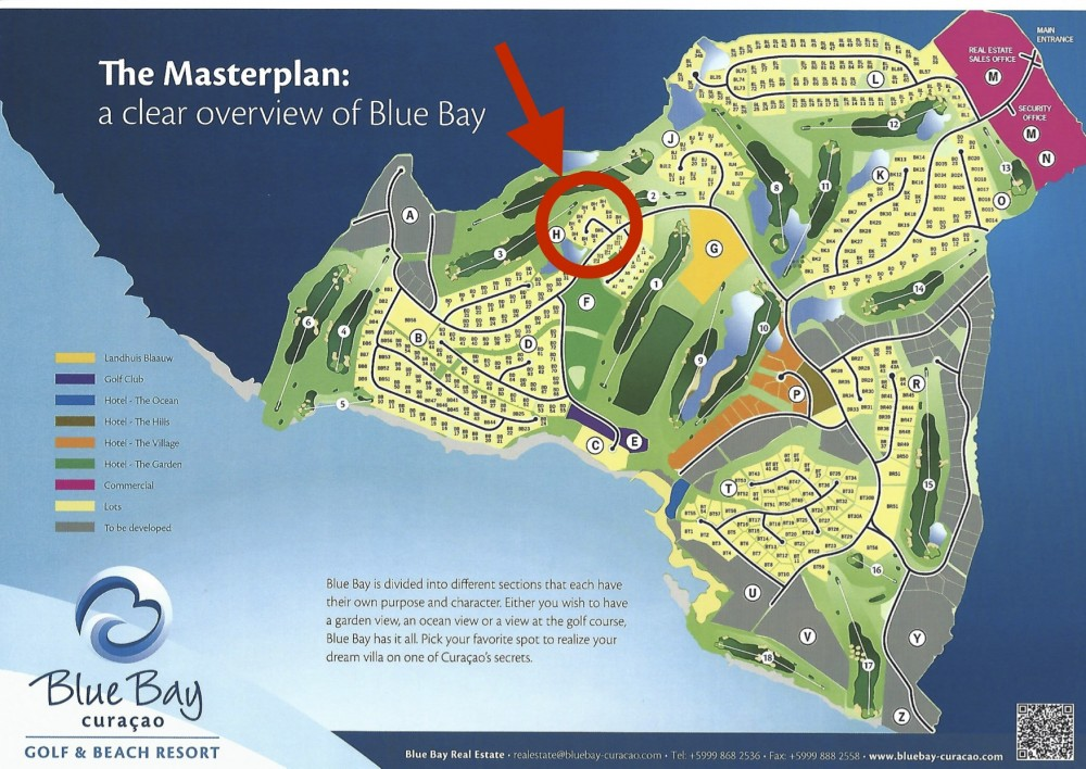 Lot for real estate development for sale on golf course BlueBay