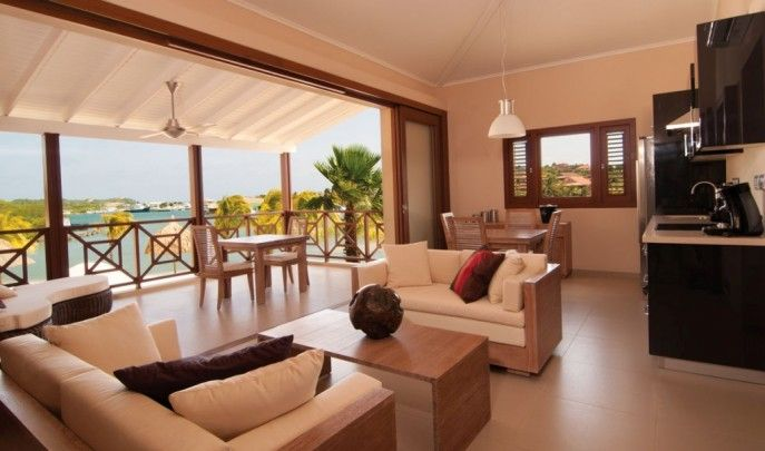Spanish Water Apartments: Waterfront apartments in Caribbean for sale