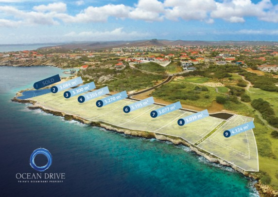 Ocean Drive 4 Private oceanfront lot-gated golf community in Caribbean