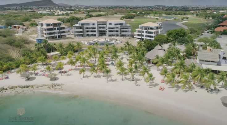 Great new 3-bedroom apartments on private beach in Curacao for sale